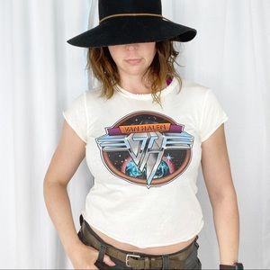 Van Halen Retro Cropped Distessed T-Shirt